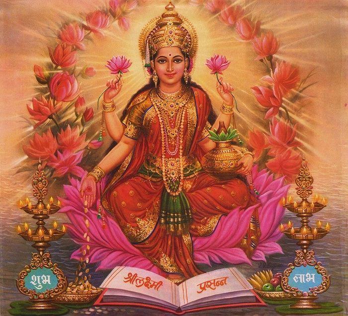 Богиня Лакшми для медитации на привлечение денег